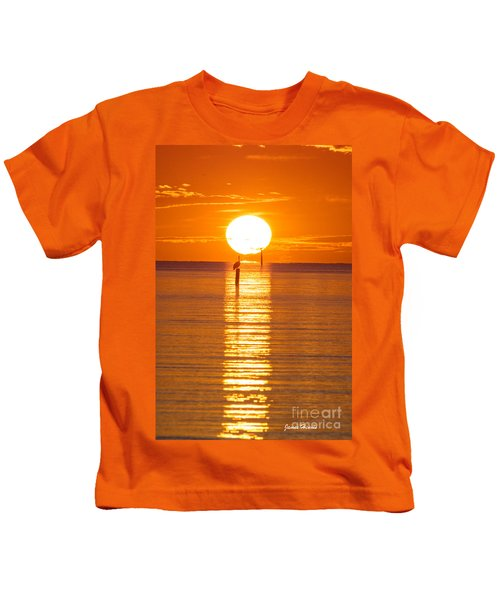 Pelican Sunset Kids T-Shirt