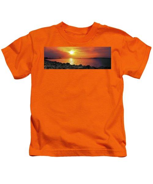Petoskey Sunset Kids T-Shirt