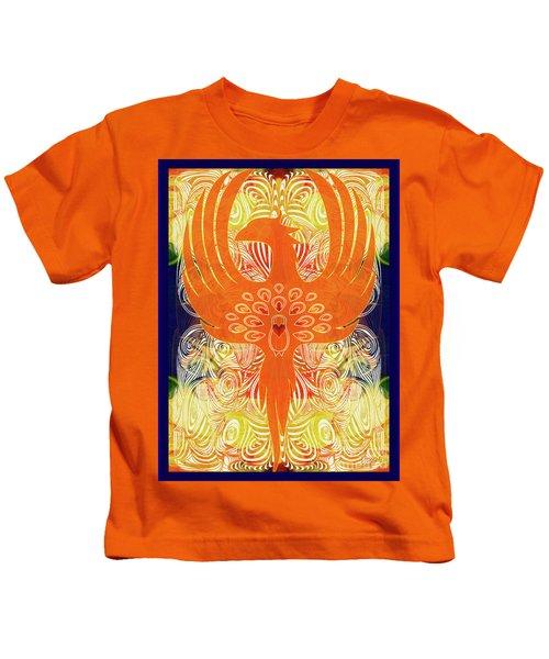 Phonix Rising Abstract Healing Art By Omashte Kids T-Shirt