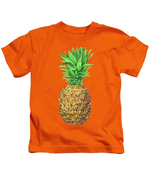 Pineapple, Tropical Fruit Kids T-Shirt