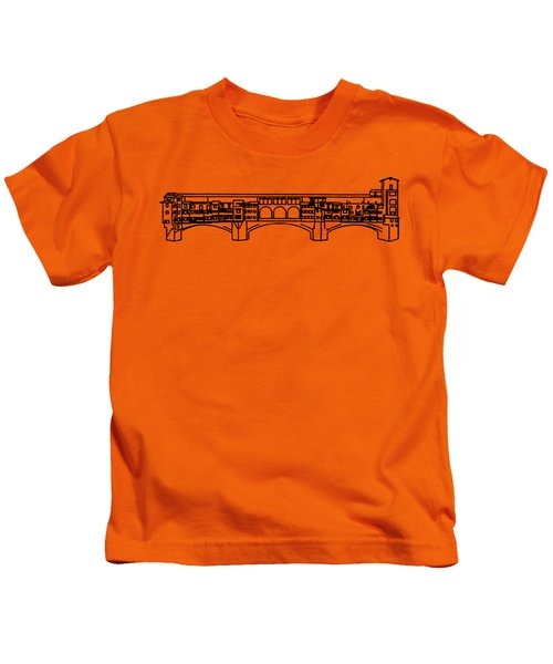 Ponte Vecchio Florence Tee Kids T-Shirt by Edward Fielding