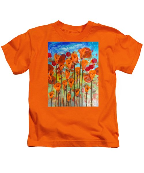 Poppies Make Me Happy Kids T-Shirt