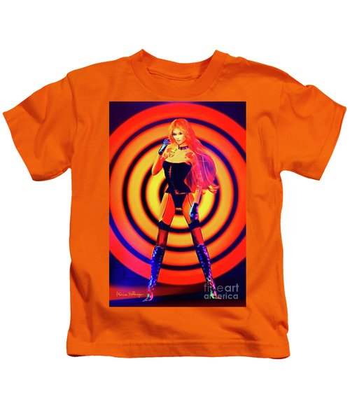 Psychedelic Hypnotic Pin-up Girl Kids T-Shirt