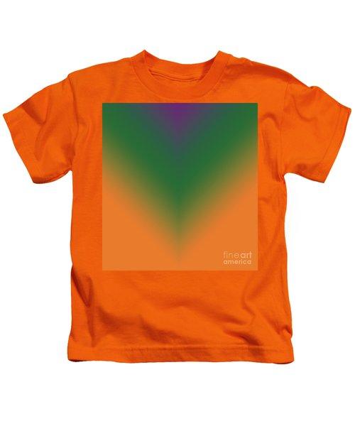 Purple, Green And Orange Kids T-Shirt