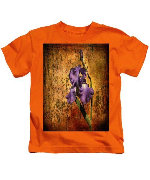 Purple Iris At Sunset Kids T-Shirt