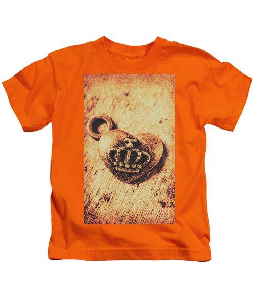 Queen Of Hearts Charm Kids T-Shirt