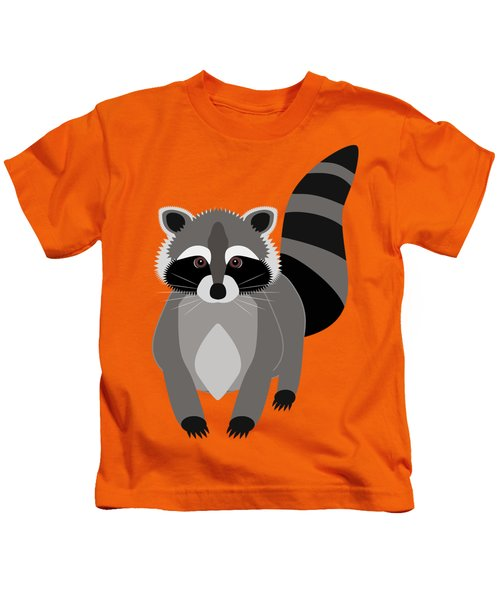 Raccoon Mischief Kids T-Shirt by Antique Images