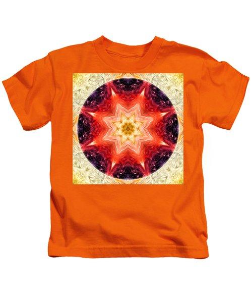 Rainbow Burst Mandala Kids T-Shirt
