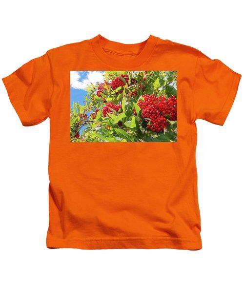 Red Berries, Blue Skies Kids T-Shirt
