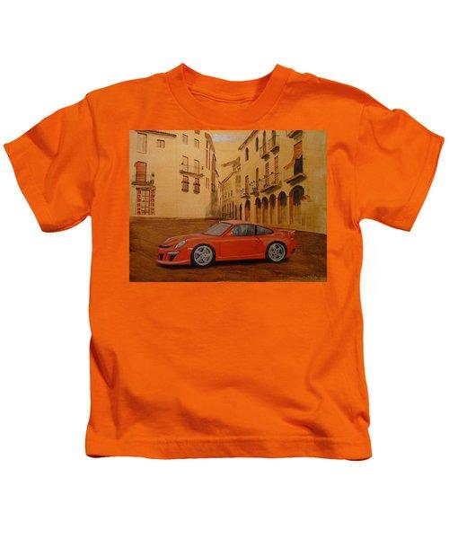 Red Gt3 Porsche Kids T-Shirt