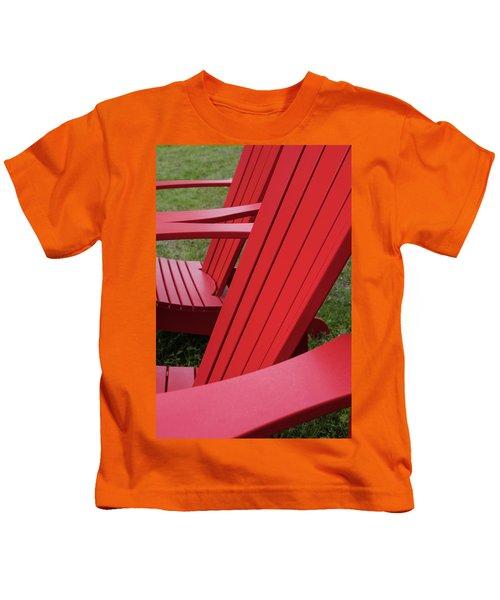 Red Lawn Chair Kids T-Shirt
