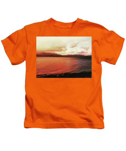 Red Sky After Storms  Kids T-Shirt