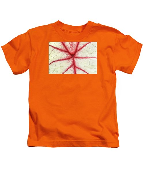 Red Veins Of A Coleus Plant Kids T-Shirt