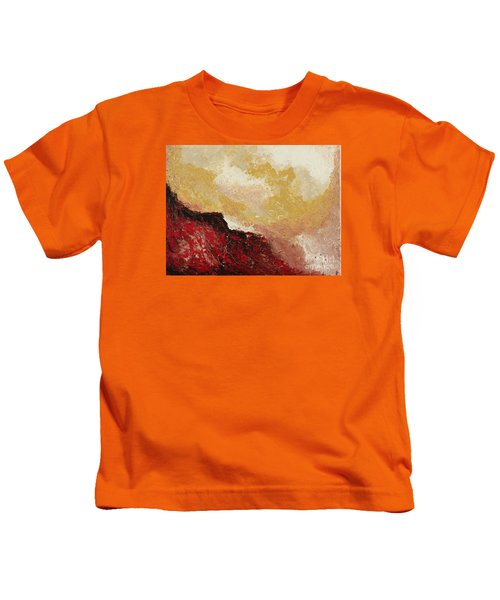 Red Waves Kids T-Shirt