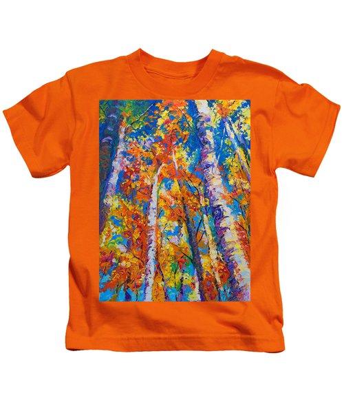 Redemption - Fall Birch And Aspen Kids T-Shirt