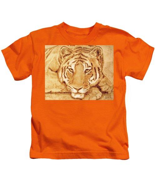 Resting Tiger Kids T-Shirt