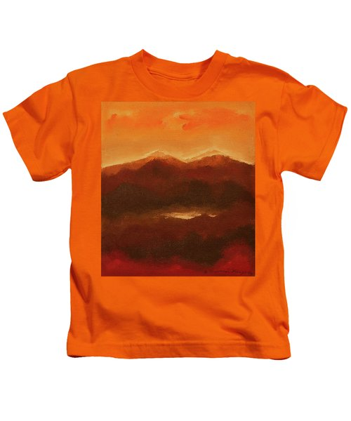 River Mountain View Kids T-Shirt