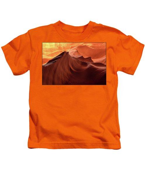 Rocky Mountain Sunrise Kids T-Shirt