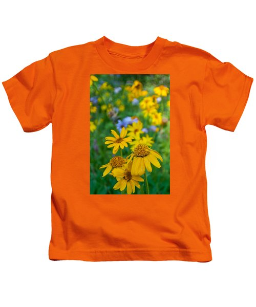Rocky Mountain Wildflowers Kids T-Shirt