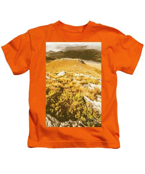 Rustic Mountain Terrain Kids T-Shirt
