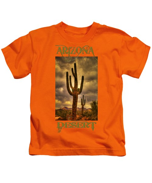 Saguaros On The Sonoran Late Afternoon Kids T-Shirt