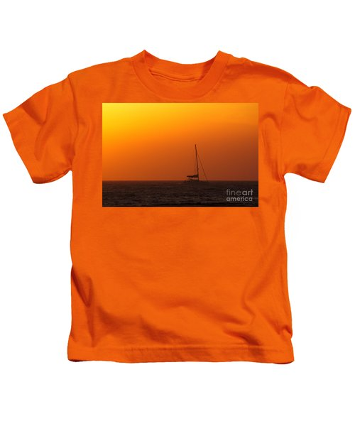 Kids T-Shirt featuring the photograph Sailboat Waiting by Jeremy Hayden