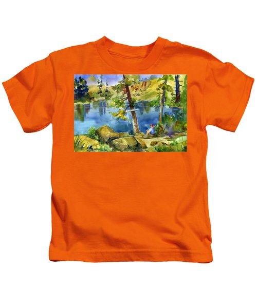 Salmon Lake Fisherman Kids T-Shirt