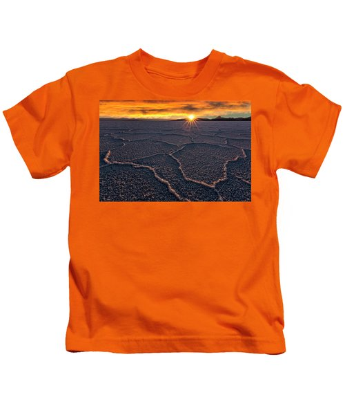 Salt Flats Sunset Kids T-Shirt