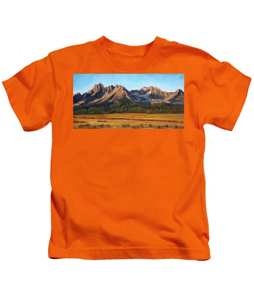 Sawtooth Mountains - Iron Creek Kids T-Shirt