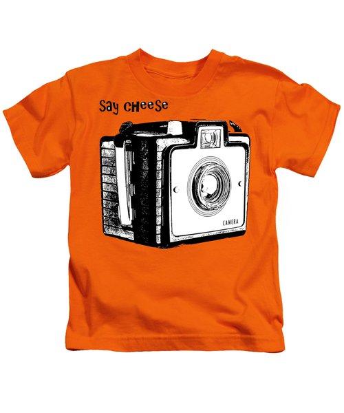 Say Cheese Old Camera T-shirt Kids T-Shirt