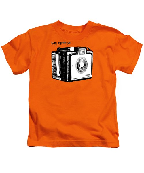 Say Cheese Old Camera T-shirt Kids T-Shirt