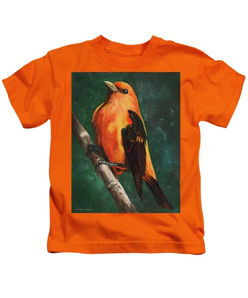 Scarlet Tanager Kids T-Shirt