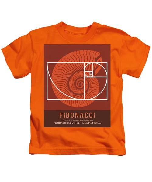 Science Posters - Fibonacci - Mathematician Kids T-Shirt