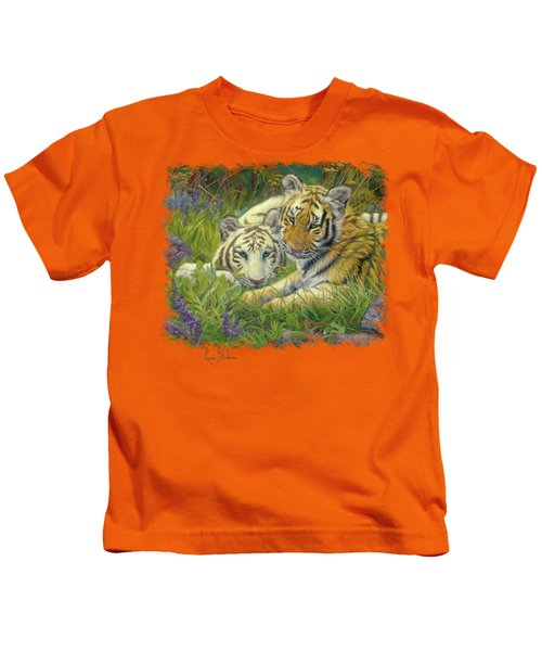 Sisters Kids T-Shirt by Lucie Bilodeau