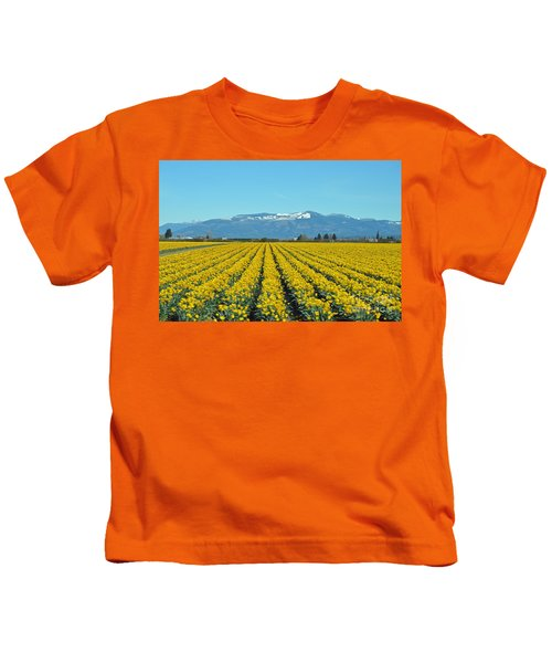 Skagit Valley Daffodils Kids T-Shirt