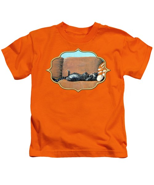 Sleeping Cat Kids T-Shirt
