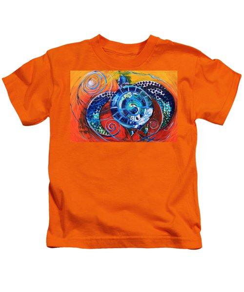 Slopical Tropical Sea Turtle Kids T-Shirt