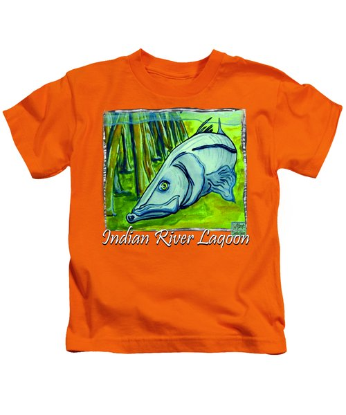 Snook Fish Kids T-Shirt by W Gilroy