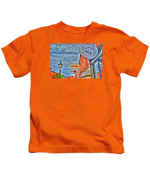 Soda Cigars And Brine Painterly   Kids T-Shirt