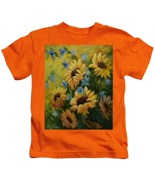 Sunflowers Galore Kids T-Shirt