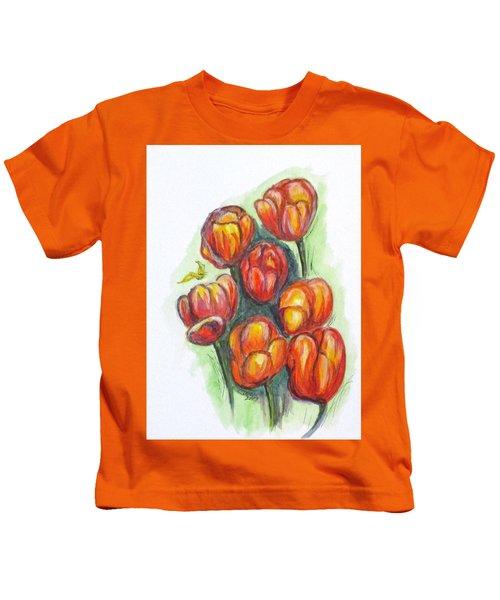 Spring Tulips Kids T-Shirt
