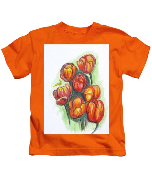 Spring Tulips Kids T-Shirt