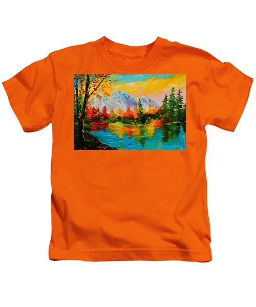 Springtime Reflections Kids T-Shirt