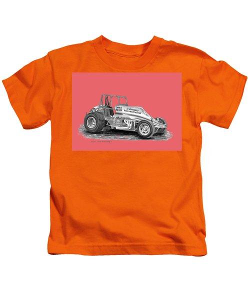 Sprint Car Dirt Track Racer Kids T-Shirt