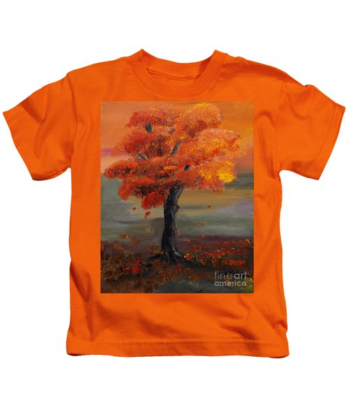 Stand Alone In Color - Autumn - Tree Kids T-Shirt