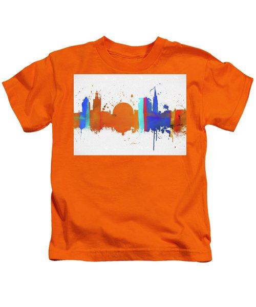 Stockholm Colorful Skyline Kids T-Shirt