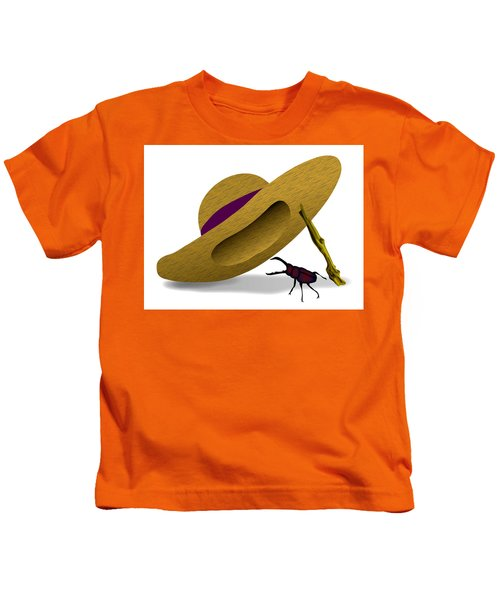 Straw Hat And Stag Beetle Kids T-Shirt
