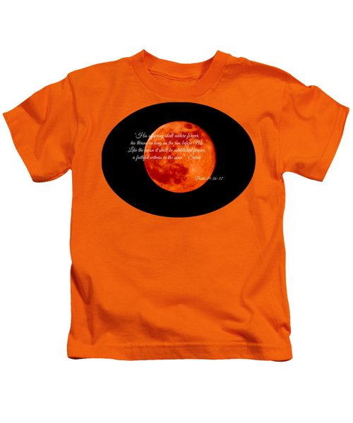 Strawberry Moon Kids T-Shirt by Anita Faye