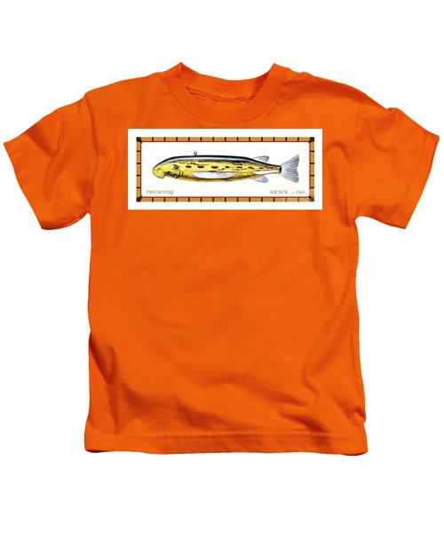 Sucker Ice Fishing Decoy Kids T-Shirt