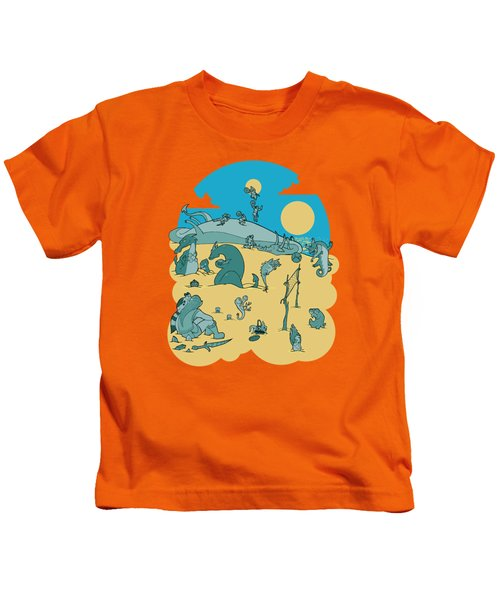 Summer Game On Vacation  Kids T-Shirt